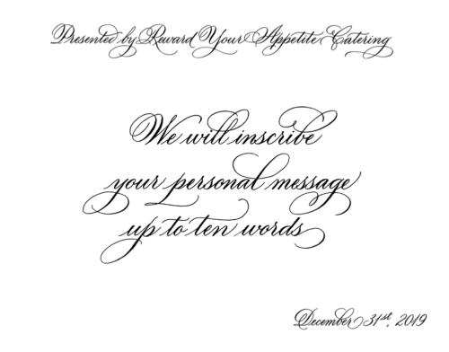 Calligraphy - Flourished Style